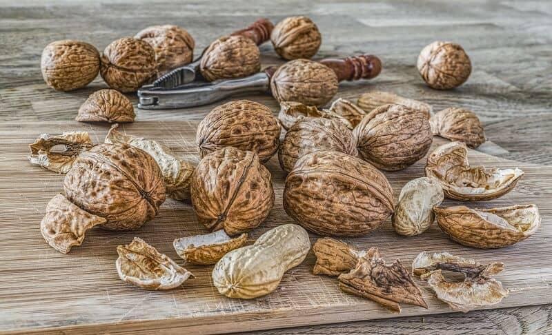 קערה אגוזים ופירות